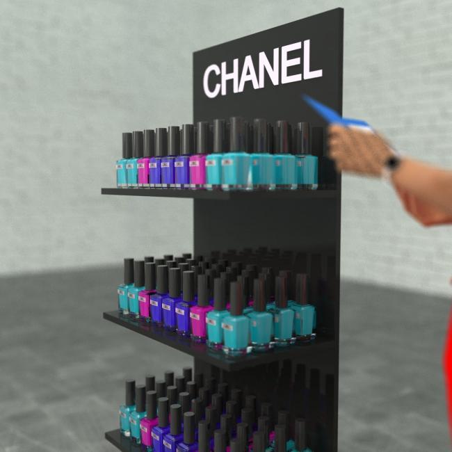 Стенд рекламный CHANEL в магазин 2