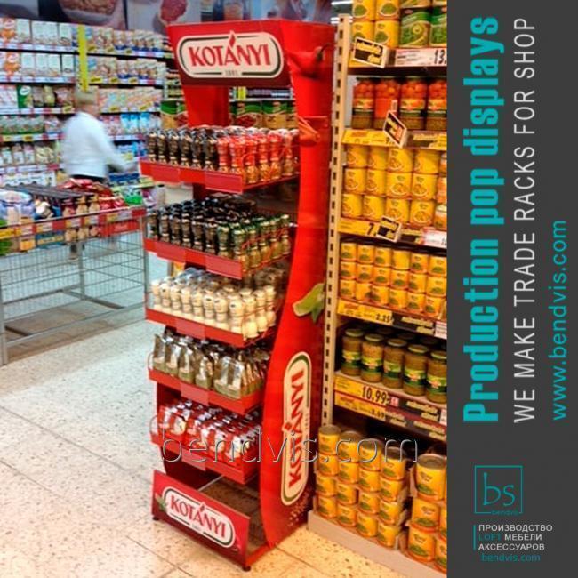 Торговые стойки Кока Кола для воды