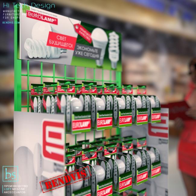 торговые стойки Евроламп для лампочек
