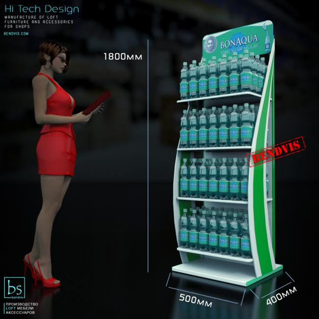Sales racks for water