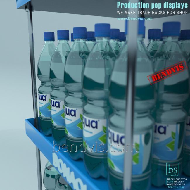 Торговые стойки для бутылок с водой