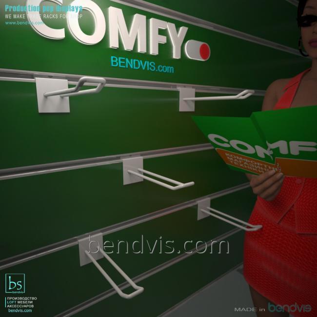 Крючки на экономпанель для Комфи