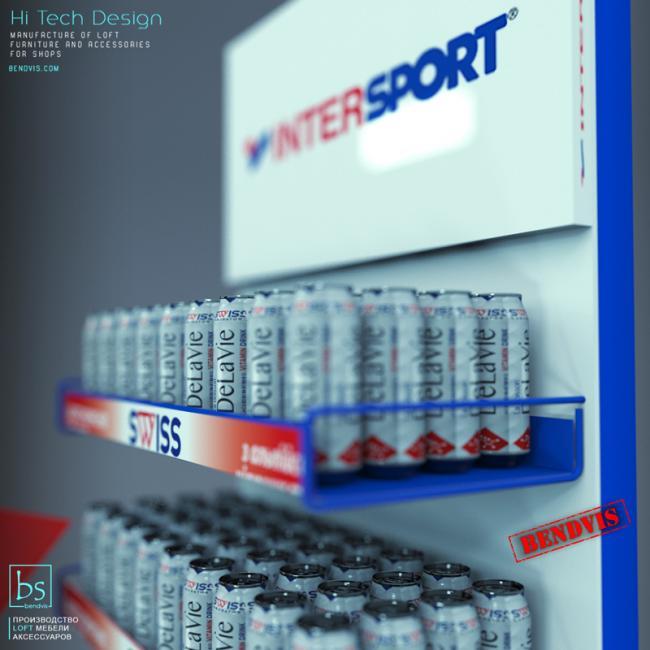 Торговые стойки Intersport для воды