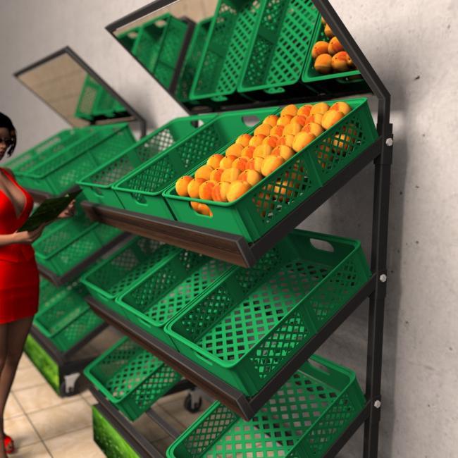 Rack de comércio de frutas e legumes