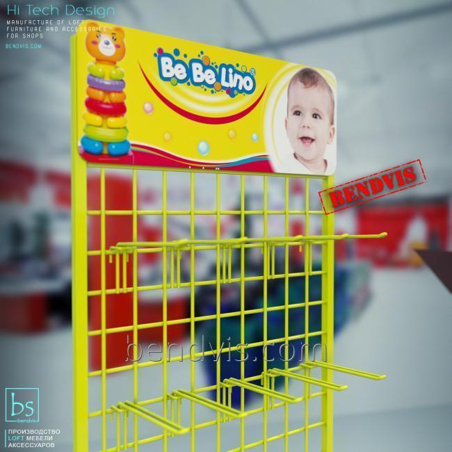 Сетчатое торговое оборудование для игрушек Bebelino