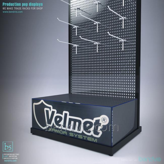 Торговая стойка с крючками Velmet от Bendvis