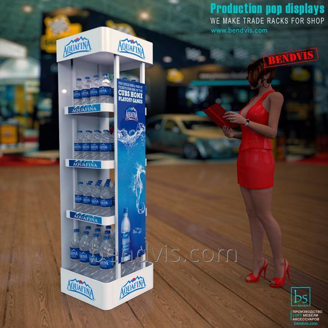 Торговые стойки Aquafina