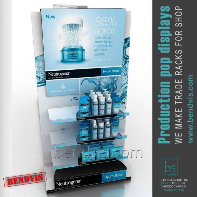 Рекламные торговые стойки NEUTROGENA для гигиены