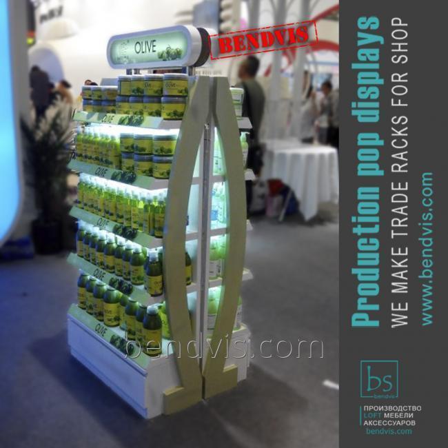 Напольные торговые стойки OLIVE для продуктов питания