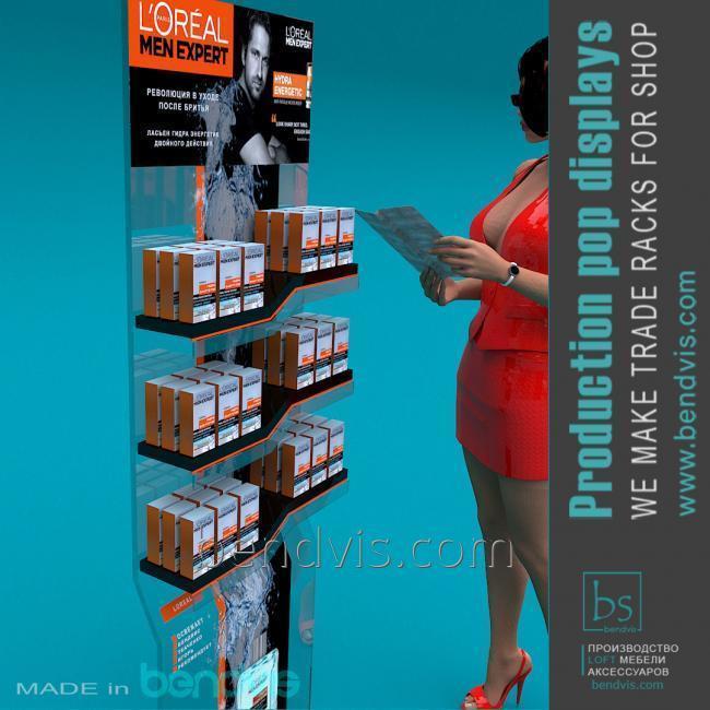 Витрина мебель для магазина парфюмерии