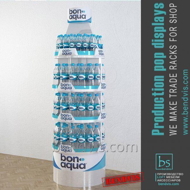 Торговые стойки Bonaqua для воды в магазин