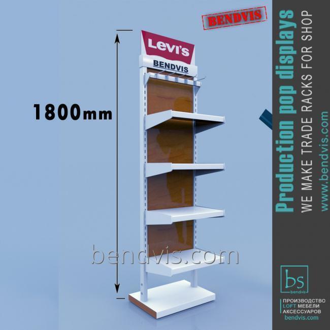 Стеллаж торговое оборудование для магазина одежды