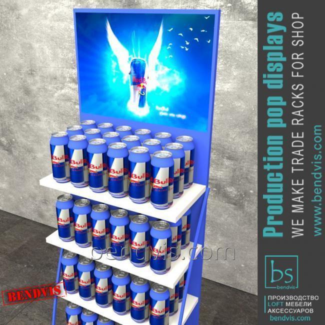 Торговые стойки Red Bull для воды