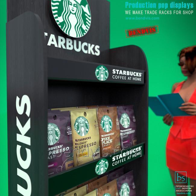 Стойка торговая STARBUCKS