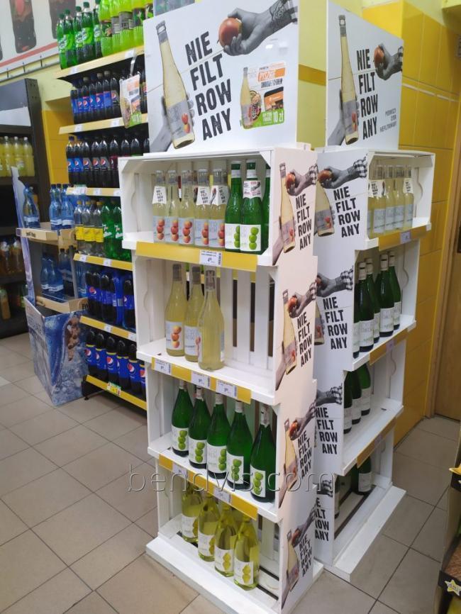 Стенд для алкоголя