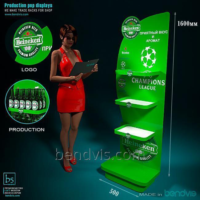 Торговый стенд для алкоголя Heineken