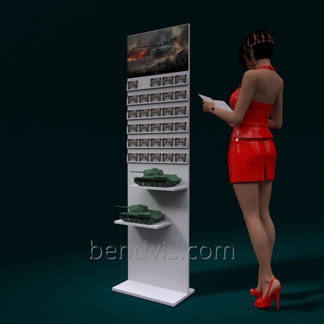 Рекламный стенд для пластиковых карт