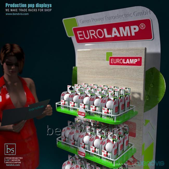 Для ламп торговые стойки