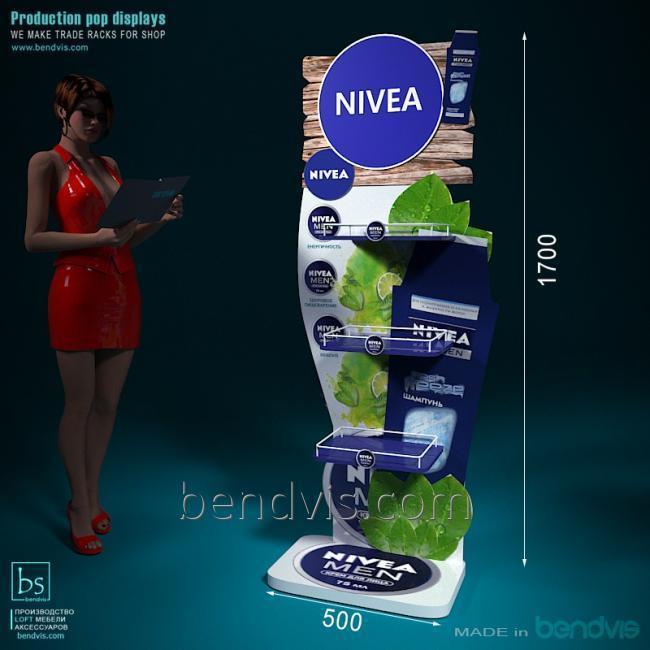 Рекламные торговые стойки NIVEA