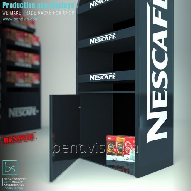 Стойка торговая под Nescafe