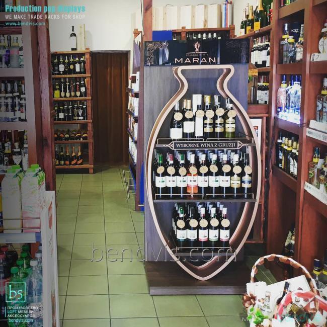 Торговые стенды стойки для алкоголя