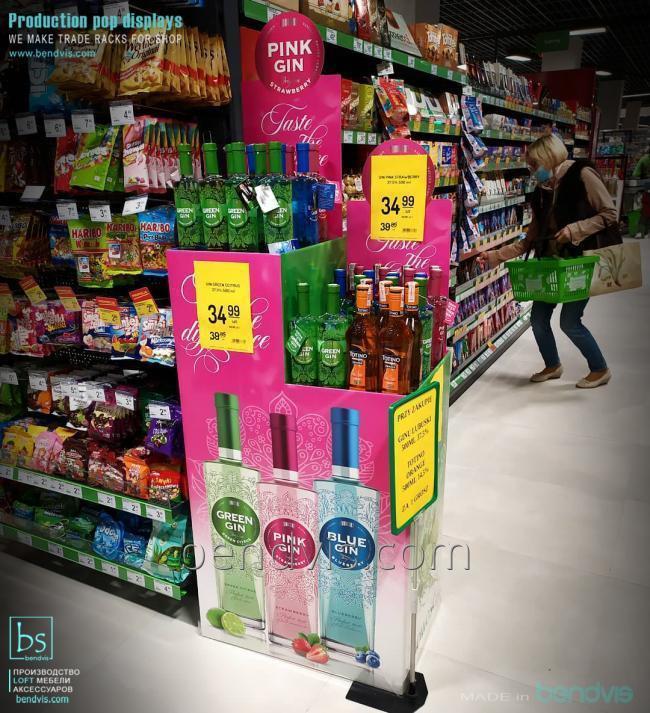 Торговые стенды для алкоголя брендированные