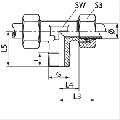 Резьбовое соединение для труб, метрическая резьба, прямое, Т-образное, L-образное и угловое под 90 градусов, для спецтехники и промышлености