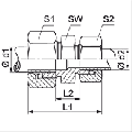 Резьбовое соединение, метрическая резьба, прямое, угловое, Т-образное и Х-образное, для спецтехники и промышлености