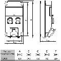 Разветвитель штепсельный, устройство распределительное ROS 5, Спамел