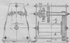 Winch manual one-drum T-68a