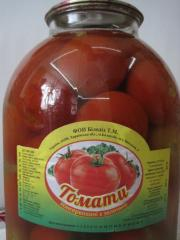 The tomatoes preserved with greens 1 of l 3 l