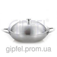 Сковорода-вок 30см с металлической крышкой 1615