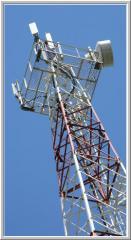 Радиомачты  сотовой и радиорелейной связи...