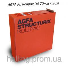 X-ray film of AGFA STRUCTURIX D4 (Pb Rollpac) 70