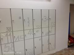 Loker and lockers of hpl of the fundermax panel