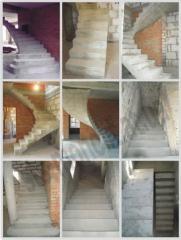 Монолитные бетонные лестницы для дома -