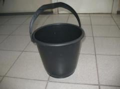 Ведро 7л черное полиэтилен
