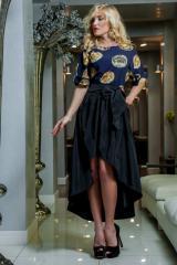 Платье с эффектной юбкой Кетти
