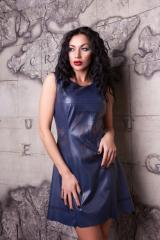 Платье из тонкой эко- кожи Анастейша М-2