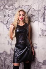 Платье из тонкой эко- кожи Анастейша М-3