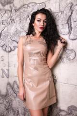Платье из тонкой эко-кожи Анастейша М-1