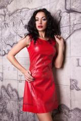 Платье из тонкой эко-кожи Анастейша М-4