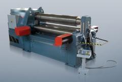 Three-roll hydraulic sheet benders