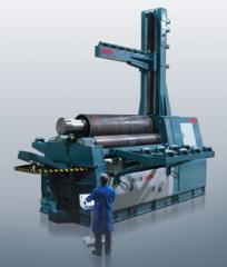Four-roll hydraulic sheet benders