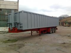 Semi-trailers dumping second-hand