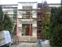 Bricklayer's scaffold frame for front works,
