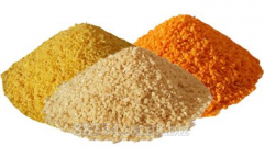 Color bread crumbs for fish, meat products, for