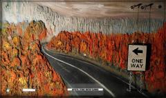 Bas-relief picture - Fall. Fall