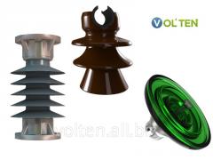 Изоляторы фарфоровые (керамические), полимерные, стеклянные следующих типов: опорные, опорно-стержневые, опорно-штыревые, штыревые, подвесные, проходные.