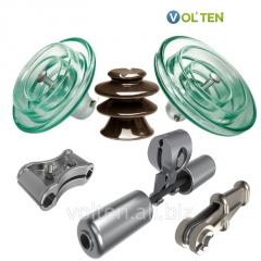 Linear fittings and insulators porcelain, glass